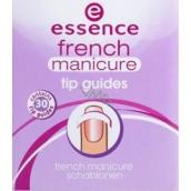 Essence Tip Guides šablonky pro francouzskou manikúru 30 kusů