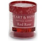 Heart & Home Rudé růže Sojová vonná svíčka bez obalu hoří až 15 hodin 53 g