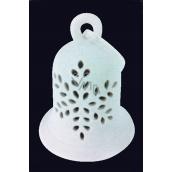 Zvonek z porcelánu blikací LED, 12 cm