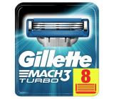 Gillette Mach3 Turbo náhradné hlavice 8 kusov, pre mužov