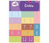 Ditipo Číslice zábavné učenie pexeso zoznámenie sa s číslami od 1-20 a desiatkami 10-90, 297 x 222 mm