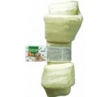 Salač Uzol byvolie Žuvacie uzol z byvolej kože prírodné doplnkové krmivo 28 - 30,5 cm biely