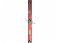 Ditipo Darčekový baliaci papier 70 x 200 cm Vianočný Disney Princezné v kolieskach ružový