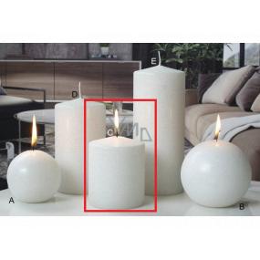 Lima Ice pastel sviečka biela valec 80 x 100 mm 1 kus