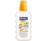 Nivea Sun Kids Pure & Sensitive sprej na opalování pro děti OF 50+ 200 ml