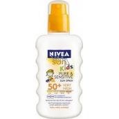 Nivea Sun Kids Pure & Sensitive OF50 + sprej na opaľovanie pre deti 200 ml