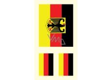Arch Tetovací obtisky na obličej i tělo Německá vlajka 2 motiv