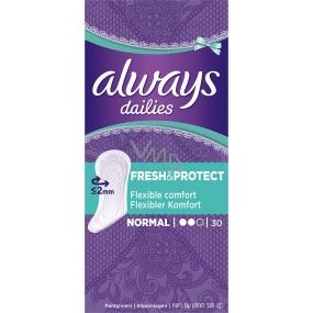 Always Dailies Fresh & Protect Normal s jemnou vôňou slipové intímne vložky 30 kusov