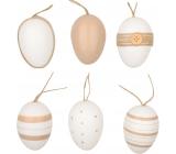 Vajíčka plastová na zavesenie 6 cm, 6 kusov v sáčku