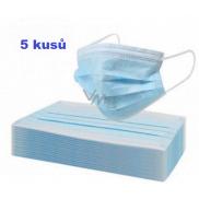 Rúška jednorazová, tvárová maska modrá 5 kusov