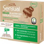Joanna Sensual Vegan depilačné pásiky na tvár pre citlivú pleť 12 kusov