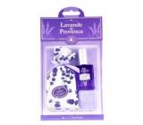 Esprit Provence Levanduľa vrecúško s levanduľou + toaletné mydlo 25 g + toaletná voda miniatura 5 ml, kozmetická sada
