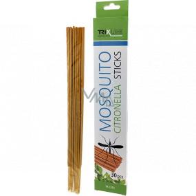 Trixline Mosquito Citronella Sticks tyčinky s citronelou proti komárom 30 kusov TR C355