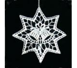Háčkované zvončeky vo hviezde 10 cm