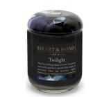 Heart & Home Stmívání Sojová vonná svíčka střední hoří až 30 hodin 110 g