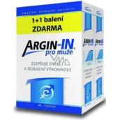 Argin-IN zlepšujú erekciu a sexuálnu výkonnosť pre mužov 45 toboliek + Argin-IN 45 kapsúl