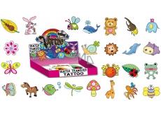 Tetovací obtisky různé motivy barevné pro děti v krabičce 5 x 3,8 cm 1 kus