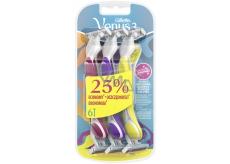 Gillette Simply Venus 3 pohotové holítko s lubrikačným pásikom pre ženy 3 farby 6 kusov