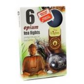 Tea Lights Opium s vůní opia vonné čajové svíčky 6 kusů