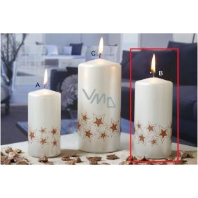 Lima Starlight sviečka biela / medená 60 x 120 mm 1 kus