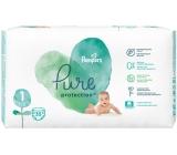 Pampers Pure Protection veľkosť 1, od 2-5 kg plienkové nohavičky 35 kusov