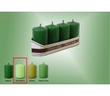 Lima Sviečka svetlo zelená valec 40 x 70 mm 4 kusy
