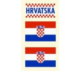 Arch Tetovací obtisky na obličej i tělo Chorvatsko vlajka 3 motiv