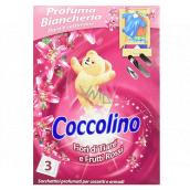 COCCOLINO Fiori di Tiaré e Frutti Rossi voňavé vrecúška do bielizne 3 kusy