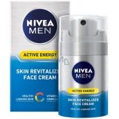 Nivea Men Active Energy revitalizačný pleťový krém pre všetky typy pleti 50 ml