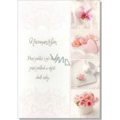 Albi Hrací přání do obálky K svatbě Decentní svatební koláž Prý se tomu říká láska Lenka Filipová 14,8 x 21 cm