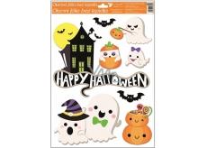Okenné fólie bez lepidla Halloween domček 42 x 30 cm