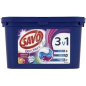 Savo Bez chlóru Color 3v1 gélové kapsule na pranie farebnej bielizne 17 kusov