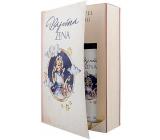 Bohemia Gifts Báječná žena Levanduľa sprchový gél 200 ml + Levanduľa olejový kúpeľ 200 ml, kniha kozmetická sada