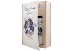 Bohemia Gifts & Cosmetics Báječná žena Levanduľa sprchový gél 200 ml + Levanduľa olejový kúpeľ 200 ml, kniha kozmetická sada