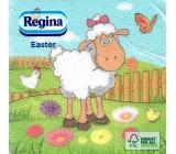 Regina Veľkonočné papierové obrúsky Ovečka 1 vrstvové 33 x 33 cm 20 kusov