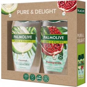 Palmolive Pure & Delight Coconut sprchový gél 250 ml + Pure & Delight Pomegranate sprchový gél 250 ml, kozmetická sada