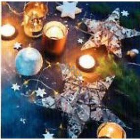 Nekupto Vianočné kartičky na darčeky Sviečky s hviezdičkami 6,5 x 6,5 cm 6 kusov