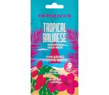Dermacol Tropical Balinese vyhladzujúci textilná maska s extraktom z kvetov ibišteka a plodov goji 15 ml