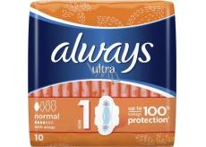 Always Ultra Normal Plus hygienické vložky 10 kusov