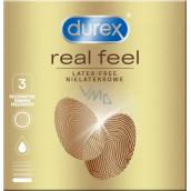 Durex Real Feel nelatexový kondóm pre prirodzený pocit koža na kožu, nominálna šírka: 56 mm 3 kusy
