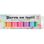 Sada farieb na svetlý textil svietiace v tme 7 x 15 g + šablóny