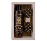 Bohemia Gifts & Cosmetics Sailor Pivné kvasnice a chmeľ sprchový gél 250 ml + drevený motýlik, kozmetická sada