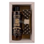 Bohemia Gifts Sailor Pivné kvasnice a chmeľ sprchový gél 250 ml + drevený motýlik, kozmetická sada