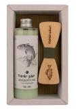 Bohemia Gifts Rybár Olivový olej sprchový gél 250 ml + drevený motýlik, kozmetická sada
