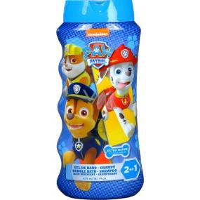 Paw Patrol Tlapková patrola 2v1 šampón na vlasy a telo & pena do kúpeľa pre deti 475 ml