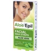 Aloe Epil Facial depilačné voskové pásiky na tvár 12 + 2 kusov