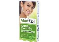 Aloe Epil Facial Wax strips - depilač.vosk.pásky na tvár 12 + 2 ks 5490