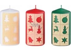 Arome Okienka vianočný motív sviečka valec 60 x 110 mm 255 g 1 kus