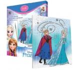 Ditipo Disney Frozen Maľovanie na plátno s glitrami pre deti 5+