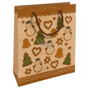 Nekupto Darčeková Kraftová taška 25 x 8 x 19 cm Vianočné medovníky 591 WKHM